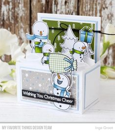 Look what I found on AliExpress Pop Up Box Cards, Fun Cards, Seasonal Image, Cute Snowman, Snowmen, Mft Stamps, Clear Stamps, Small Gifts, Cardmaking