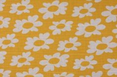 Premier Prints Wildflowers - Slub Printed Cotton Drapery Fabric in Corn Yellow $8.48 per yard CLOSEOUT