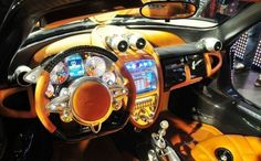 Pagani Huayra dashboard. Magnificent or a monstrosity? You decide... #spon #Pagani