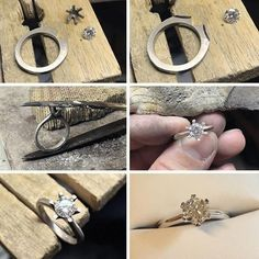 Cheap Diamond From the workshop, creating a classic diamond solitaire engagement ring, with teardrop claws for a crisp finish. Engagement Rings Cushion, Round Solitaire Engagement Ring, Diamond Solitaire Rings, Diamond Jewelry, Sparkly Jewelry, Beautiful Rings, Ring Designs, Jewelry Making, Art Sketches