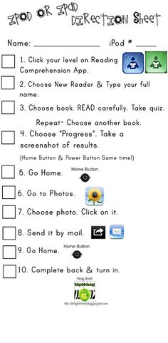Great handouts for reading progress using the kids reading comprehension: http://www.technologytailgate.com/2012/11/comprehension-app-intervention.html