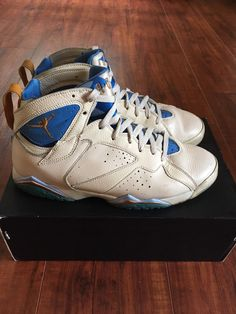 Nike Air Jordan 7 VII Retro Shoes White Ceramic Blue Pearl 304775-281 Size  10