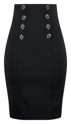 High Waisted Pin Me Up Pencil Skirt