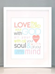 Great shopping on Etsy!!   11x14 Love the Lord Print by MissNibbit on Etsy, $18.00