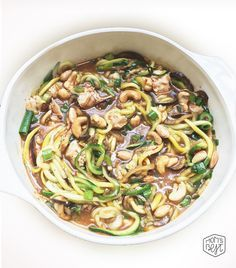 KUNG PAO CHICKEN ZOODLES Whole30 and Paleo