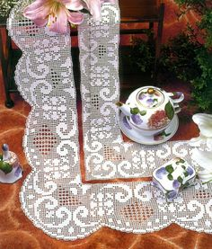 """Photo from album """"кайма крючком"""" on Yandex. Filet Crochet, Crochet Lace, Picnic Blanket, Outdoor Blanket, Baby Knitting Patterns, Smocking, Album, Projects To Try, Quilts"""