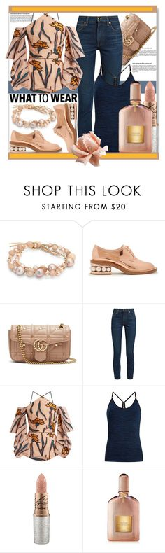 """What To Wear"" by helenaymangual ❤ liked on Polyvore featuring Chan Luu, Nicholas Kirkwood, Gucci, Khaite, Roland Mouret, Pepper & Mayne, Mariah Carey and Tom Ford"