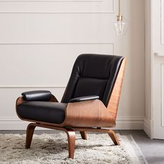 Paulo Bent Ply Leather Chair