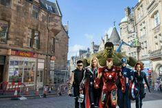 The #Avengers in #Edinburgh #Scotland Los #Vengadores en #Edimburgo #Escocia , ven a verlos con #ScotlandTrips http://www.dailyrecord.co.uk/news/scottish-news/avengers-edinburgh-filming-locations-revealed-10070172