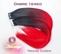 OMBRE COLOR:Gradient From Dark To Red