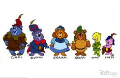 The Gummi Bears television series originally premiered on NBC in 1985. The show then joined the original lineup of The Disney Afternoon in 1990.