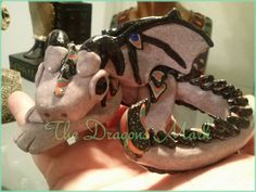 Grey granite Dragon with Twinkle black with by TheDragonsMark