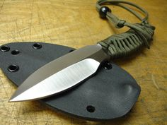 I love the spear point blade. The tip can be sharp without being fragile.
