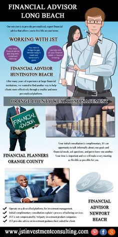 Visit this site http://www.jstinvestmentconsulting.com/financial-advisor-long-beach for more information on Financial Advisor Long Beach. Selection of the right person for managing your personal finances is one of the most crucial decisions you will be making. You entrust the job of managing your hard-earned money to an advisor with a hope to make use of his or her financial expertise. Therefore make sure you opt for the best and the most famous financial advisor long beach.