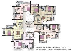 apartment structures | Apartment floor plans of shri krishna residency kankavali Apartment ...