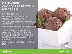 Summer weather  - no need to miss out...try this yummy delight !  Get your dairy free shakes here :  http://www.4amazingresults.isagenix.com/en-US/products/categories/individual-items/isalean-shake-dairy-free