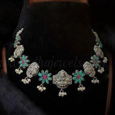 Choker Sabhya Antique Rings, Antique Jewelry, Silver Jewelry, Jewelry Design, Chokers, Bangles, Antiques, Pendant, Style