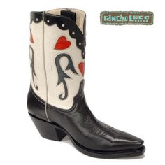 Peal Pee Wee Cowboy Boots, $499 - All-Leather Cowboy Boots - Handmade Cowboy Boots - Black and White Boots