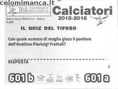 Calciatori 2015-2016: Retro Figurina n. 601 Angelo D'Angelo - Mariano Arini