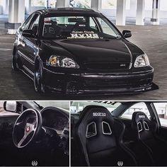 All black Honda. B-series Black Honda Civic, 1999 Honda Civic, Civic Jdm, Honda Civic Coupe, Honda Civic Hatchback, Honda Civic Type R, Honda S2000, Civic Tuning, Honda Cars