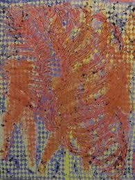 peinture à la cire sur toile -