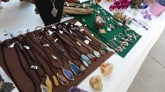 Hand picked gems & quartz in handcrafted jewelry.