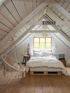 Check Out Attic Bedroom Diy Loft Conversions Small Loft Bedroom, Attic Master Bedroom, Attic Bedroom Designs, Attic Rooms, Attic Spaces, Trendy Bedroom, Small Rooms, Bedroom Ideas, Small Space