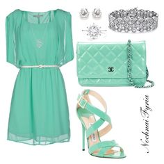 """""""Untitled #18"""" by nochnaifyria on Polyvore featuring Silvian Heach, Jimmy Choo, Chanel and Palm Beach Jewelry"""