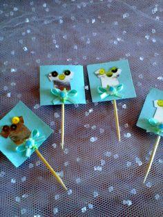 Fofos topper para decorar seus doces. <br>pacote com 04 un