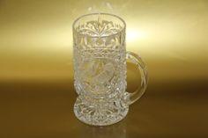 Vintage Hofbauer Byrdes Crystal Stein Beer Mug Clear Cut Glass Bird by TheVeryOldStuffShop on Etsy