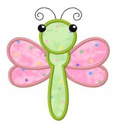 Dragonfly applique machine embroidery design by FunStitch on Etsy, $4.00