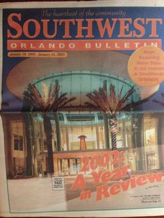 Our Jan. 18, 2003, cover ... The Mall at Millenia opened to huge crowds in October 2002. The upscale shopping center, which at the time featured 80 stores that were new to the Orlando market (including the first-ever Central Florida Macy's), has since become a major draw for businesses and tourists alike. The mall has further developed its luxury offerings as existing stores have renovated and expanded and new tenants have been announced. #tbt