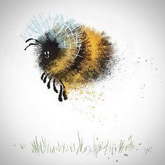 Fuzzy bee.