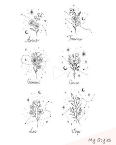 Blume Tattoos Designs - Blume Tattoos Designs florale Muster - kleine Blume Tattoos Designs - Blume Tattoos Designs Skizzen - Blume Tattoos Designs Fuß - Blume Tattoos Designs Vintage Blume t Dainty Tattoos, Pretty Tattoos, Mini Tattoos, Cute Tattoos, Beautiful Tattoos, Body Art Tattoos, New Tattoos, Cancer Sign Tattoos, Tatoos