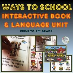 """This is an awesome interactive book that helps to increase transportation vocabulary and concept knowledge.  It also provides """"WH"""" questions, pronouns and repetition of movement verbs.The interactive book is super useful, but that is just the start of what is provided in this resource."""