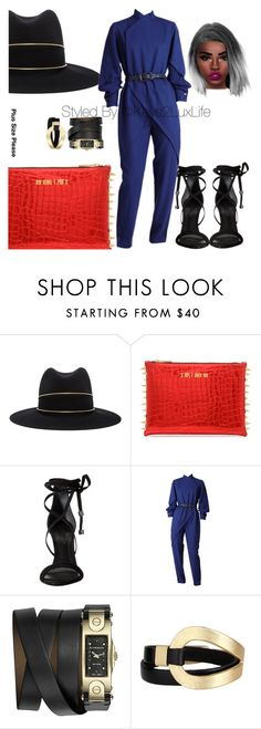 """Plus Size Please"" by keys2luxlife on Polyvore featuring Janessa Leone, Schutz, Givenchy and Saachi"