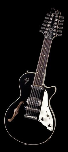 Twelve strings and a shortened scale of 39 cm (15.5 in.) are two of the most noteworthy features of the Duesenberg mando guitar. This combination makes the Mando's sound incomparably brilliant and provides it with enough charm to break open the gates of heaven in nearly any musical context or genre! Duesenberg guitars