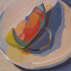 """Grapefruit Slice"" - Original Fine Art for Sale - © Robin Rosenthal"