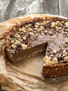Jaglana tarta kawowa - przepis weganskie, bezglutenowe, bez cukru Polish Desserts, Diet Desserts, Gluten Free Desserts, Easy Cake Recipes, Raw Food Recipes, Cookie Recipes, Dessert Recipes, Healthy Cake, Vegan Cake
