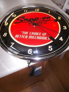 """Snap on Tools CLOCK Vintage Retro Style 15"""" ROUND METAL NEW in PKG SSX16P103PO #SnapOnTools"""