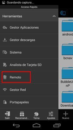 FTP remoto de ES Explorer: tranmite desde movil o tablet al PC
