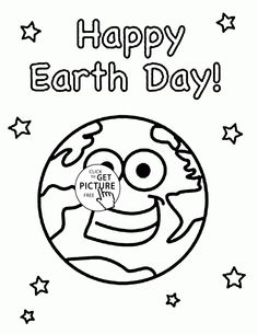 Happy Earth Day Colouring Pages for Primary School Happy Earth Day