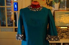 vintage turquoise blue maxi dress bead by dieyoungstaypretty