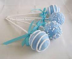 Baby blue cake pops