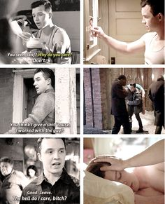 Mickey + not caring about Ian at all (◡‿◡✿) #mybbys #gallavich #shameless