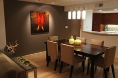 Contemporary Living/Dining Room Remodel