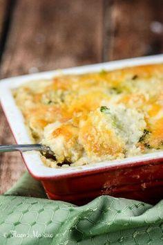 Chicken Broccoli Cheese Quinoa Casserole ~ http://FlavorMosaic.com