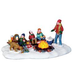 Lemax sledding potluck (kampvuur) H cm Lemax Christmas Village, Lemax Village, Christmas Villages, Vail Village, Christmas Catalogs, Christmas Store, Christmas Holidays, Christmas Ornaments, Christmas Carol
