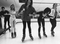Hey Violet ice skating