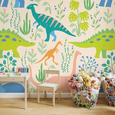 Kids' Room Ideas: Creating a Mural from Wallpaper